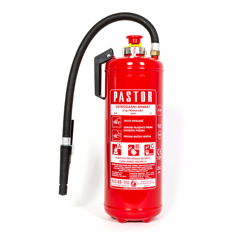 [20990] Pastor Fire Extinguisher Dry Powder with int. Cartridge 6kg image