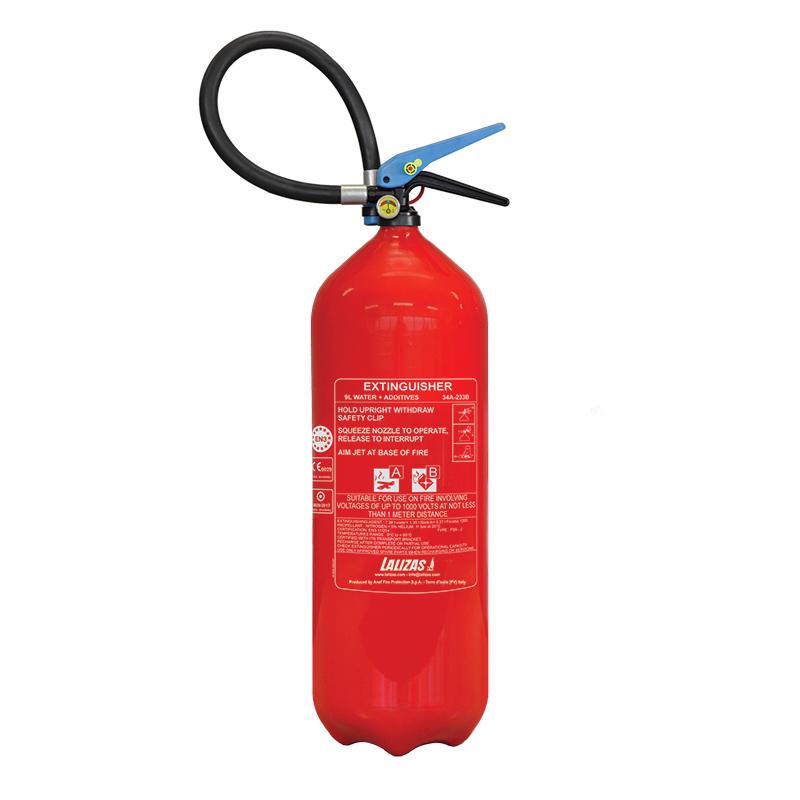 [474621] LALIZAS Fire Extinguisher Foam 9lt, Stored Pressure w/wall bracket, MED (EN,IT,GR) image