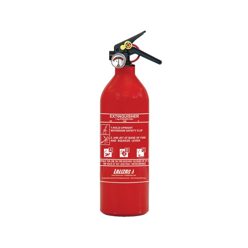 [704431] LALIZAS Fire Extinguisher Dry Powder 1kg, Stored Pressure w/bracket, MED (EN,IT,GR) image