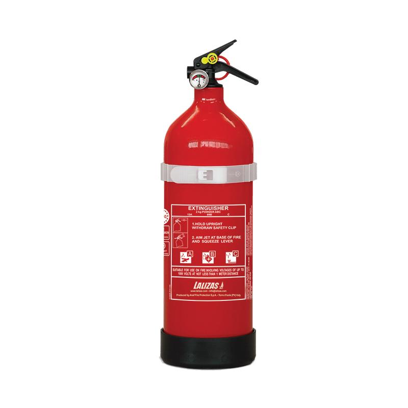 [704441] LALIZAS Fire Extinguisher Dry Powder 2kg, Stored Pressure w/bracket, MED (EN,IT,GR) image