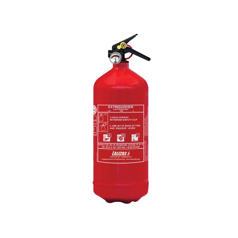 [704451] LALIZAS Fire Extinguisher Dry Powder 3kg, Stored Pressure w/bracket, MED (EN,IT,GR) image