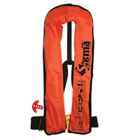 [72154] Sigma Work Vest.Auto.Adult.170N,ISO 12402-3,orange durable PVC fabric cover image