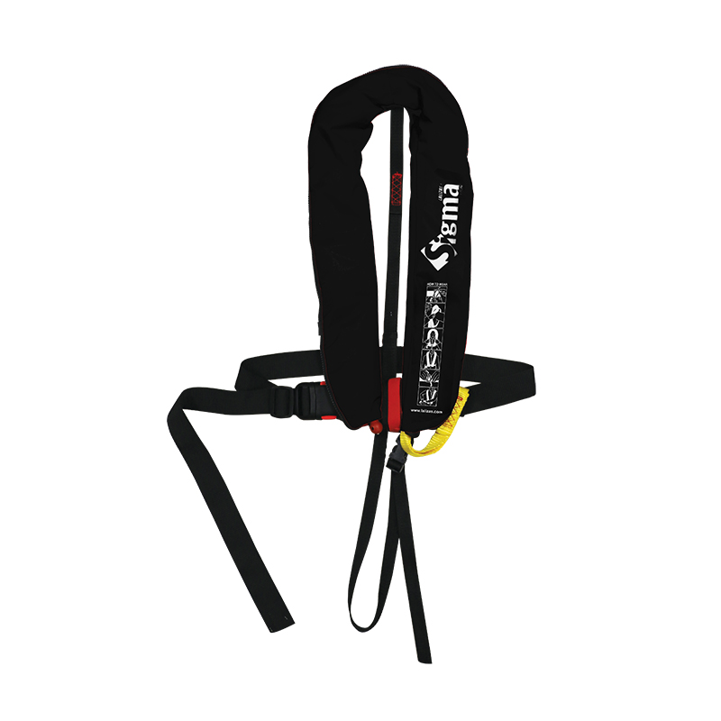 [725611] Sigma Infl.Lifejacket.Auto.Adult.170N,ISO 12402-3,Plastic buckle, w/harness,Zipper,black image