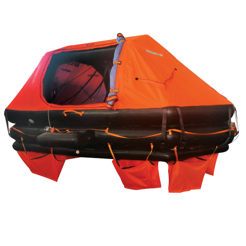 [73138] LALIZAS Liferaft SOLAS OCEANO, Davit-Launched Self-Righting, 16 prs, canister (Α) image