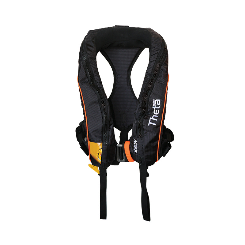 Theta Inflatable Lifejacket, Auto, Adult, 290N, ISO 12402-2 with spray hood & double crotch image