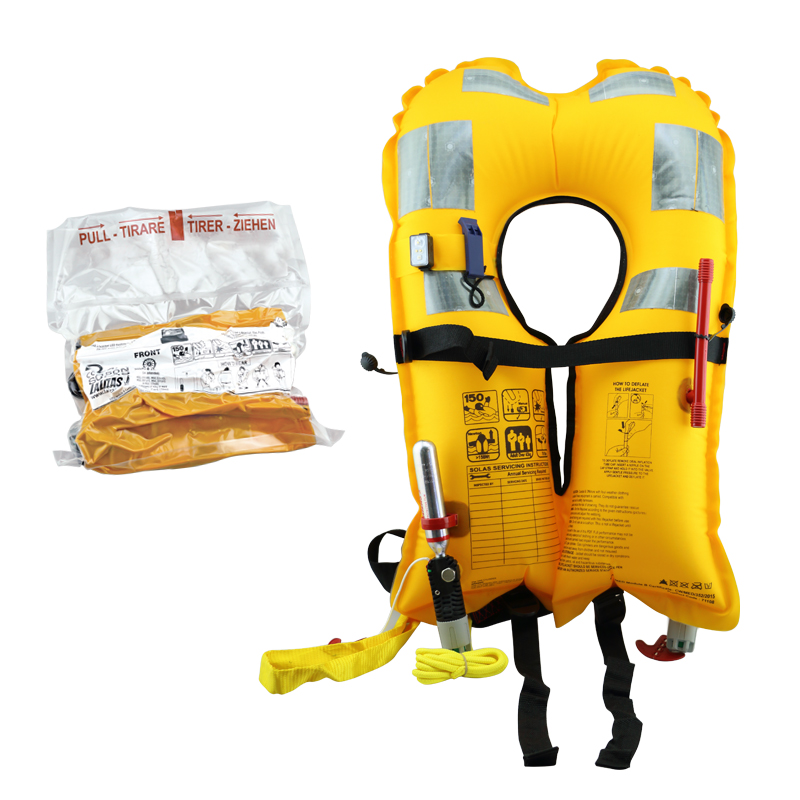 LALIZAS Inflatable Lifejacket, Vacuum Pack, Delta Auto 150N, SOLAS, with LALIZAS Lifejacket light image