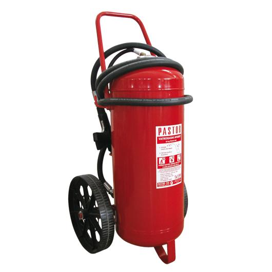 Pastor Fire Extinguisher Dry Powder with cartridge, Wheeled, 50kg image