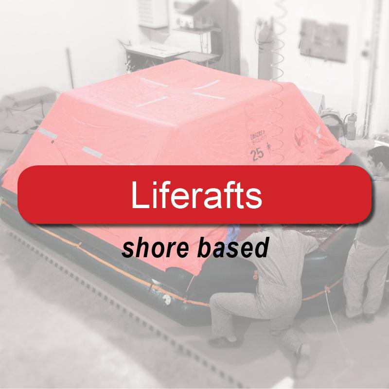 Liferafts - shore based image