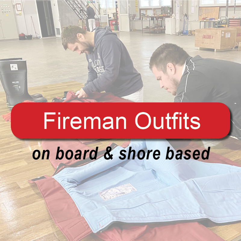 Fireman outfits  - on board & shore based image