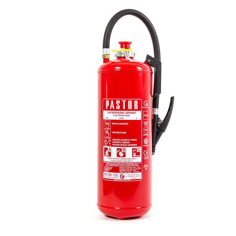 Pastor Fire Extinguisher Dry Powder with int. Cartridge thumb image 1